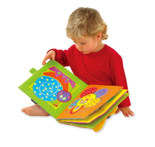 Giant Soft Fabric Book - 25cm Square - Machine Washable