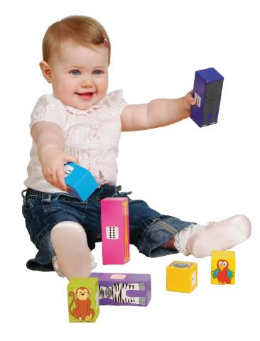Sensory Animal Stackers Wooden Blocks
