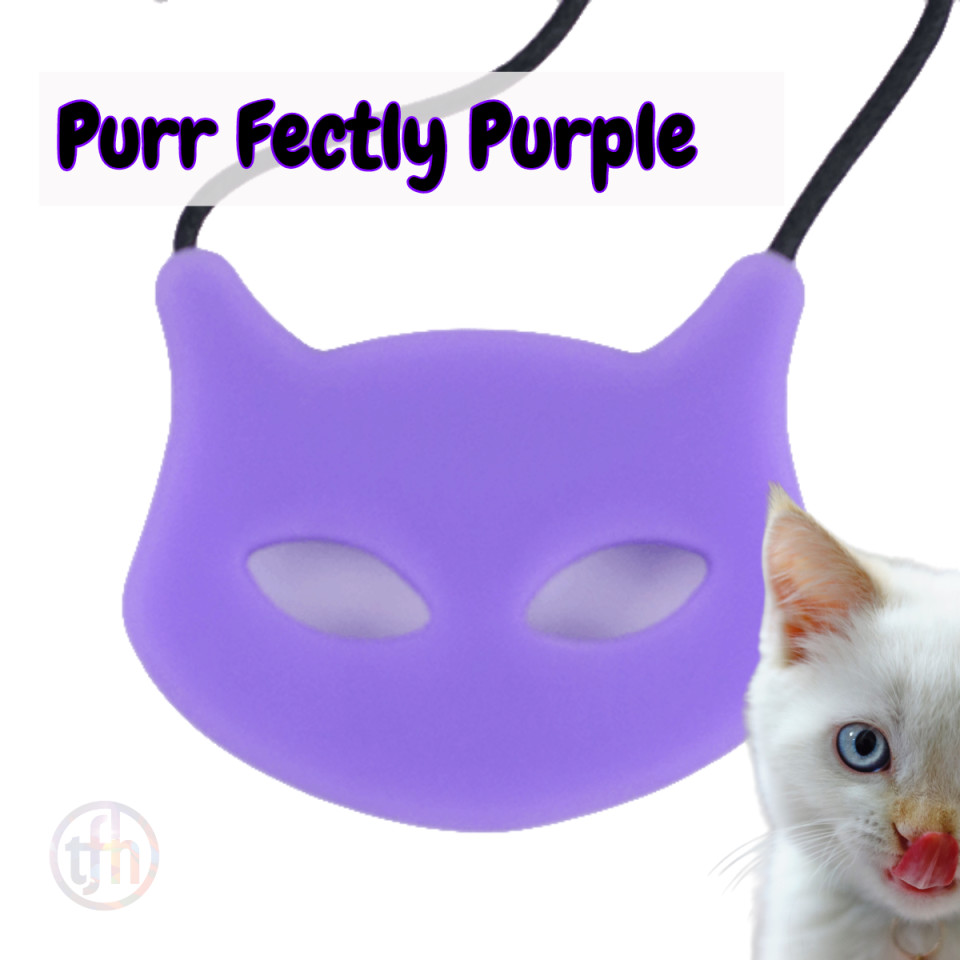 Chew Necklace - Cat Face Soft Chew
