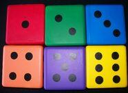 "Foam Dice 6"" Square"