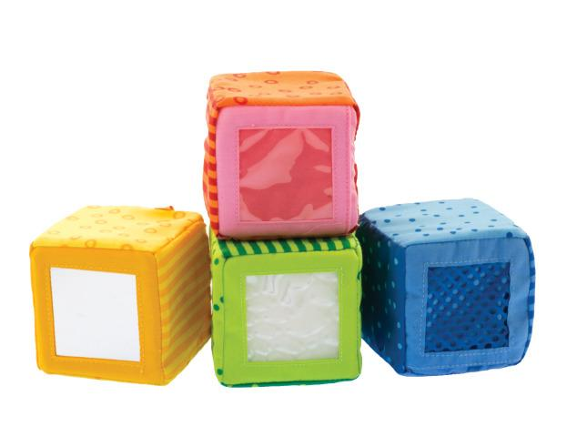 Happy Quartet Auditory Fabric Cubes