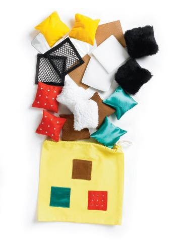 Tactile Play Bag - 20 Soft Squares - Tactile Development