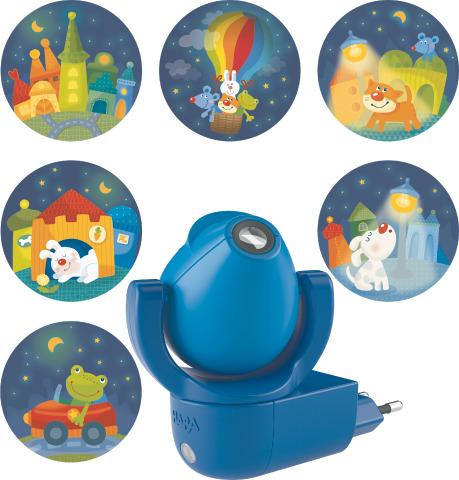 Rainbow Whimsy City Night Light