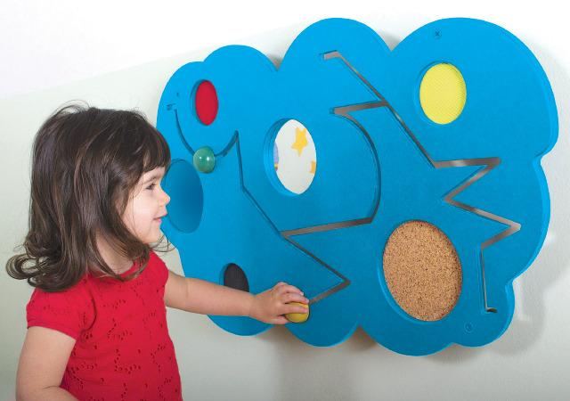 Tactile Clouds - Wooden Wall Panel