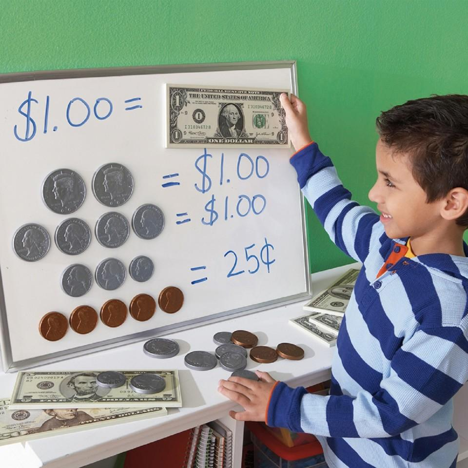 Big Money™ 3-D Magnetic Coins and Bills