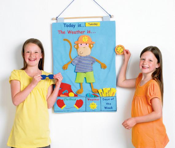 Felt Play, Monkey Weather Chart