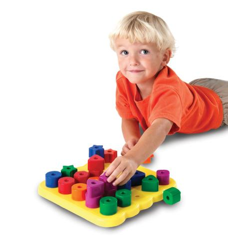Stacking Shapes Peg Board