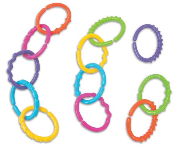 Kids Plastic Links, 12 Linklets, Multi-Colour