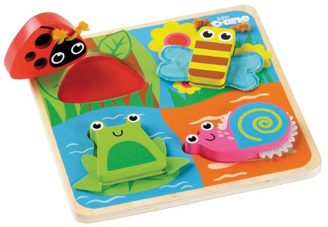 Tactile 3D Puzzle Shapes & Feel - Bugs