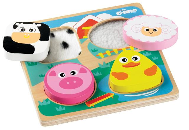 Tactile 3D Puzzle Shapes & Feel - Farm