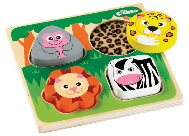 Tactile 3D Puzzle Shapes & Feel - Safari