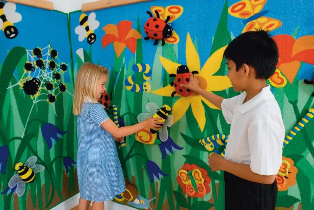 Flower Garden Play, Tactile Wall Panel, Narrow