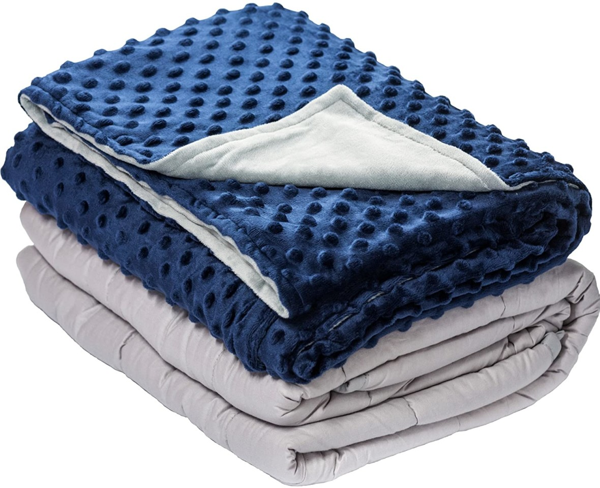 Weighted Blanket and Minky Dot Cover