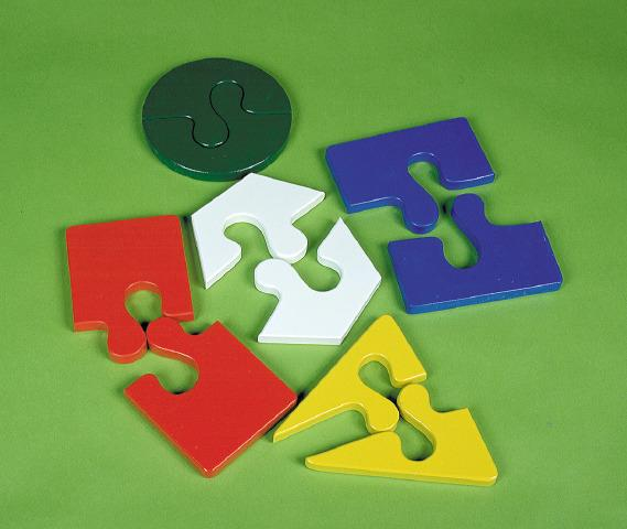 Two Piece Colour Jigsaws