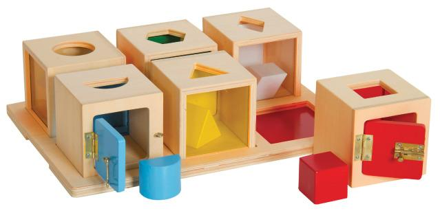 Peekaboo Lock Boxes - Development Sensory Toy