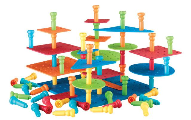 Tall-Stackers Peg Building Set