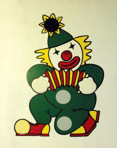 Clown Bean bag Wooden Frame Target
