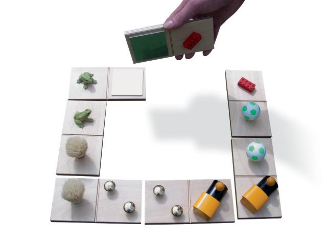 Sensory Domino Game With Objects