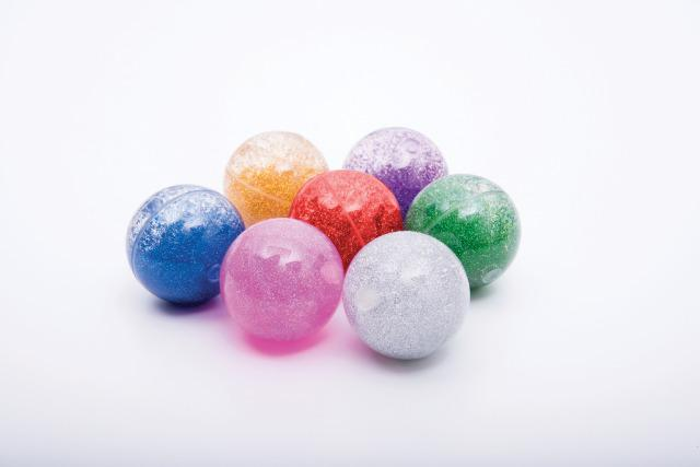 Sensory Rainbow Glitter Balls - Set of 7