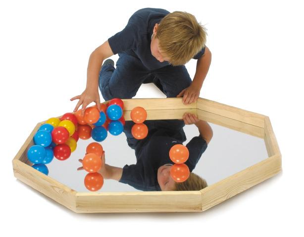 Play Tray with Mirror and Balls - Mirror Sensory Toy