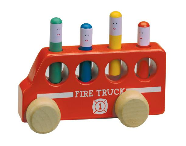 Pop Up Fire Truck - Variable Force Sensory Toy
