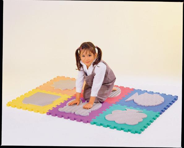 Sensory Tactile Mat With 6 Textured Pieces