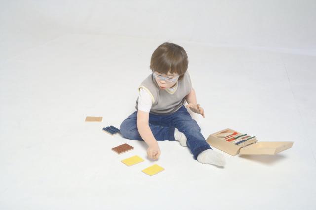 Tactile Box - 10 Pairs - Wood-backed Materials