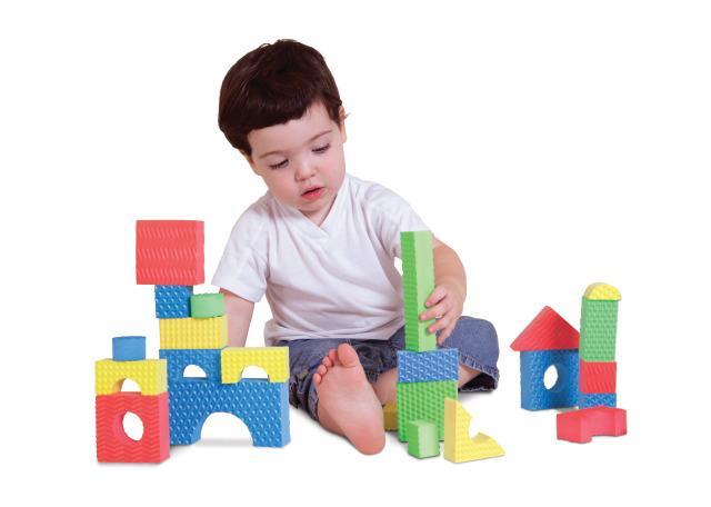 30 Textured Foam Blocks