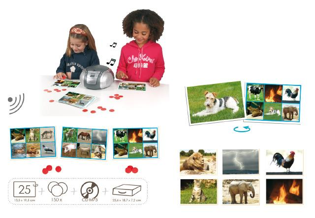 Bingo Sounds - Match Animals and Nature With Sounds