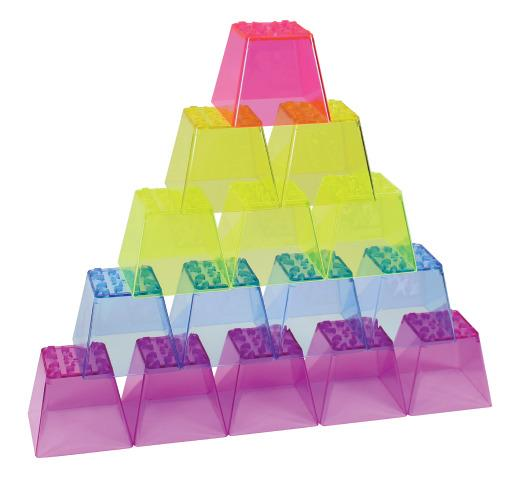 Crystal Colour Stacking Blocks - Colours Sensory Toy