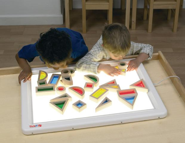 Light Table, Rainbow Blocks