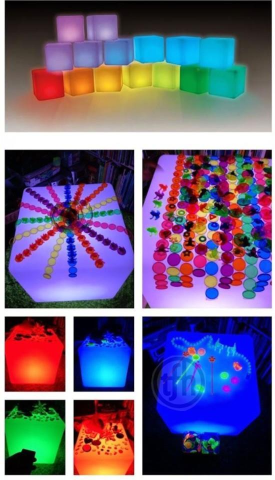 Light Table Sensory Learning Games