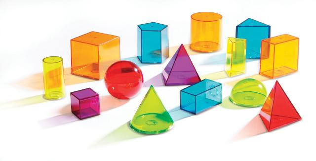 See Through Geometric Solids - 3-D Shapes
