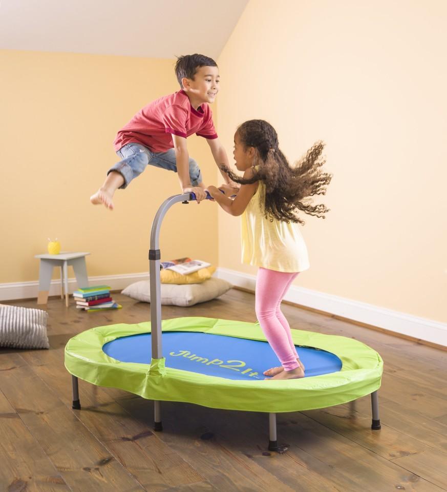 JUMP2iT® Adjustable Trampoline with Folding Handle