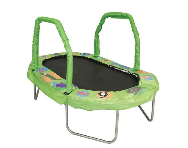 Mini Oval Trampoline-Green