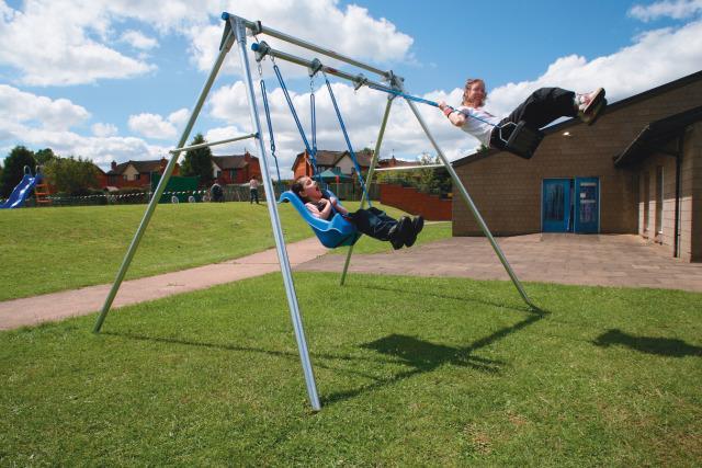 Double Outdoor Swing