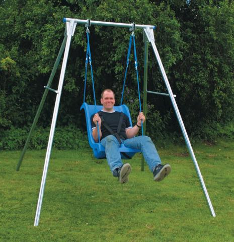 Single Galvanized Steel Swing Frame (Frame only)