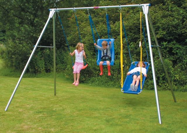 Galvanized Steel Swing Frame - Treble