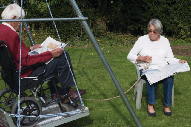 Wheelchair Swing and Frame