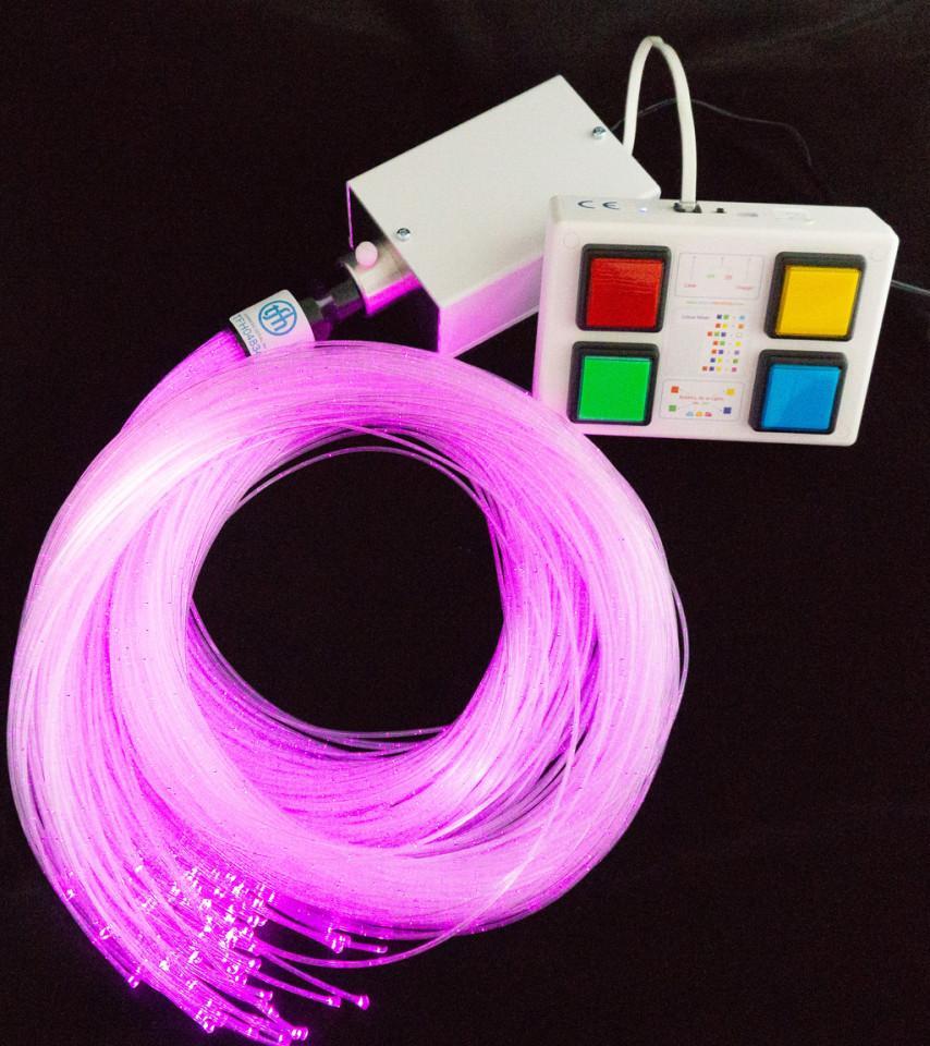 Interactive Fiber Optic Spray