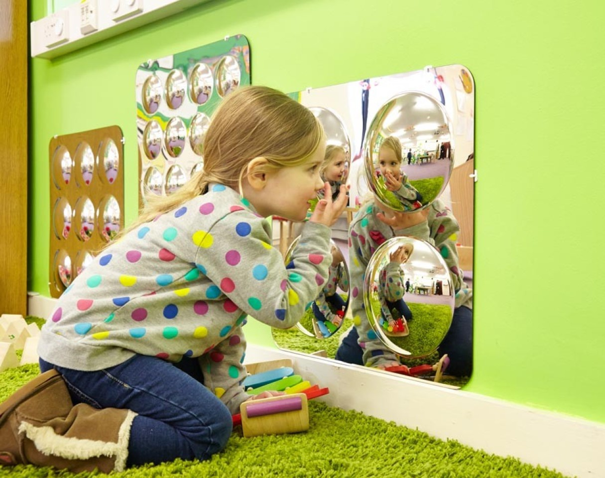 Large 4-Dome Mirror
