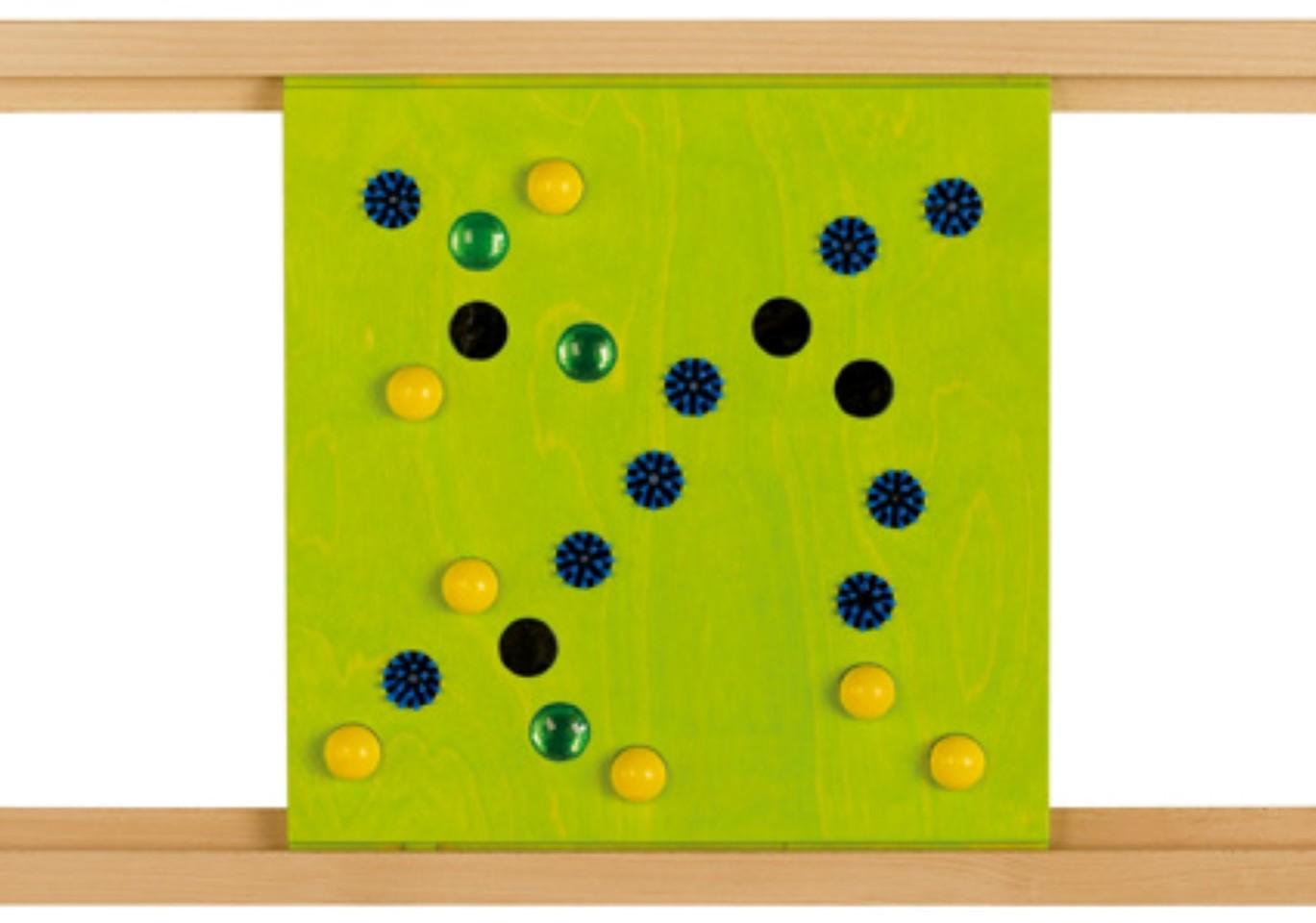 Brushes, Balls, and Mirrors Sensory Wall Activity Panel