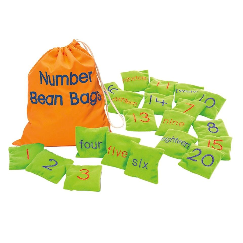 Numbered Bean Bags - LIMITED SUPPLY