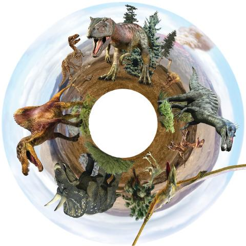 Magnetic Wheel, Roaming Giant Dinosaurs