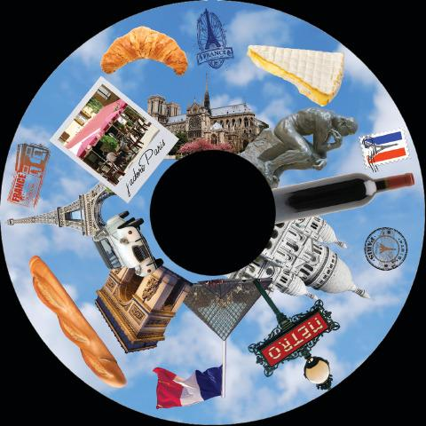 6 Inch Projector Wheel - Paris Scene