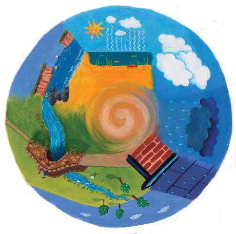 6 Inch Projector Wheel - Water Cycle Scene
