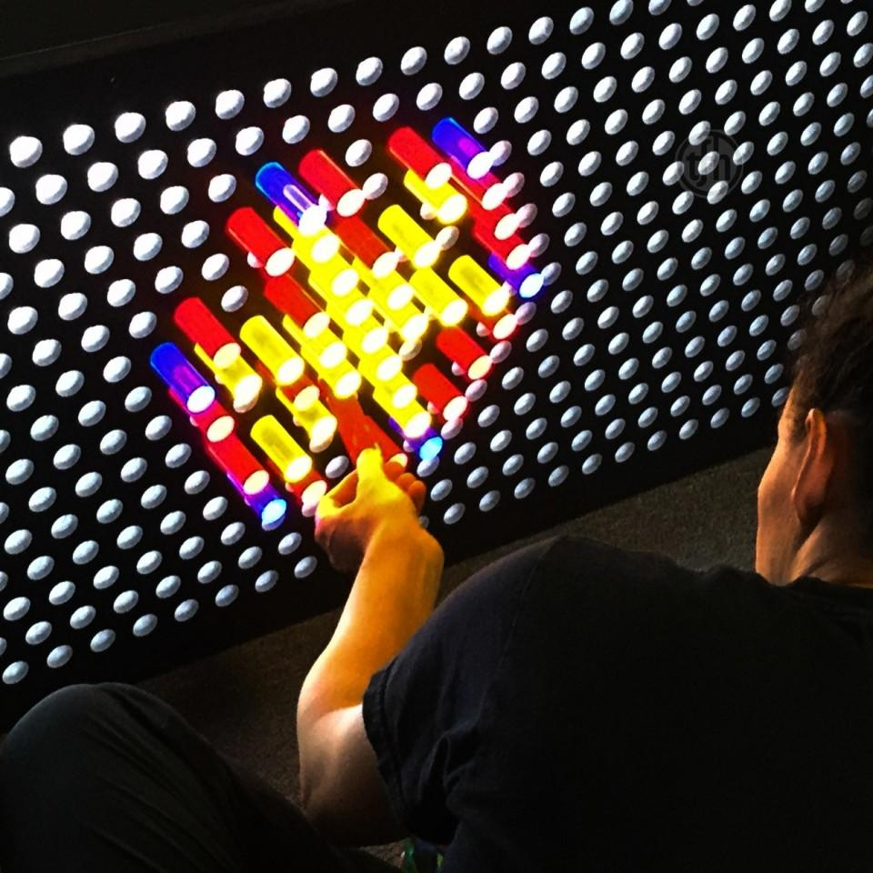 Illuminating Glass Rod Wall Sensory Toy