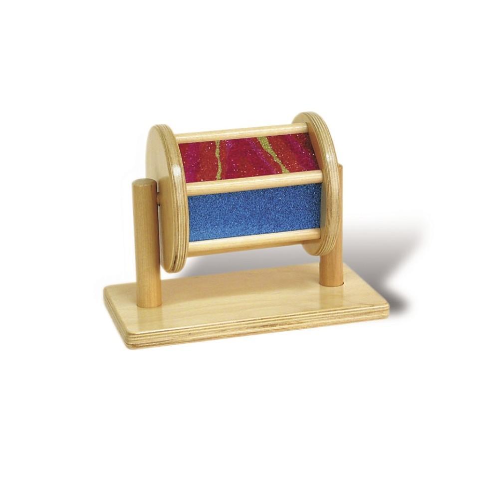 Spin Around Glitter Drum - Sensory Development Toy