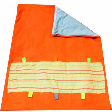 Soft Touch Weighted Blanket-Small-Orange/Gray