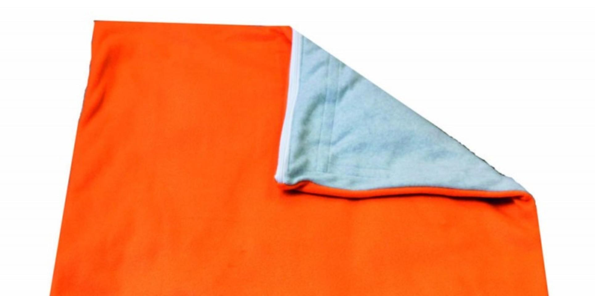 Soft Touch Weighted Blanket-Small-Orange/Gray- Style: Without Pocket